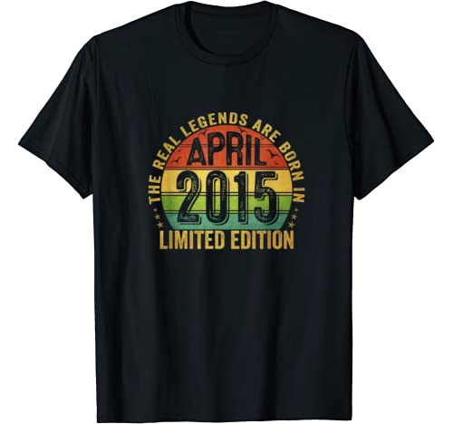 The Real Legend Are Born In April 2015 Limited Edition T Shirt