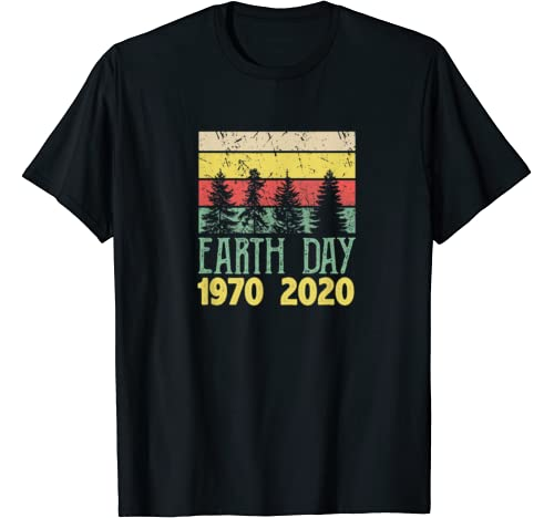 Retro Vintage 50th Earth Day 1970 2020 Costume Tree T Shirt