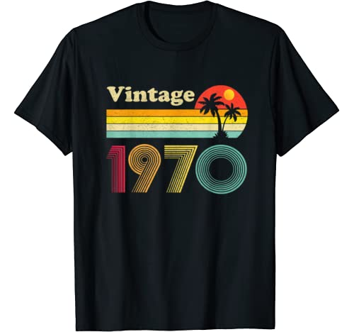 Retro 1970 50th Birthday Gift Classic 50 Years Old Vintage T Shirt