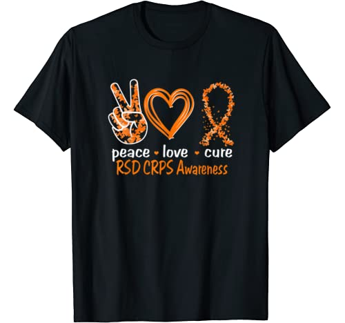 Peace Love Cure Rsd Crps Awareness T Shirt