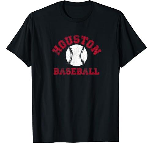 Houston Distressed Pro Baseball Fan Vintage Retro Team T Shirt