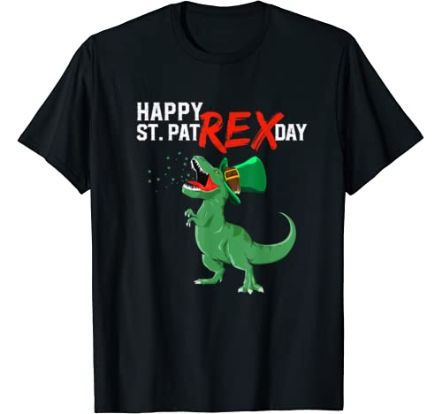 St Patricks Day Happy St Pat Rex Day For Boys Kids Men Gifts T Shirt