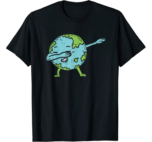 Funny Dabbing Earth Day Shirt Cute Planet Dab Dance Boy Girl T Shirt
