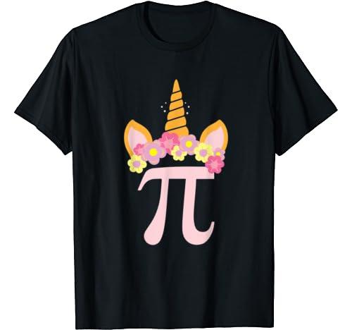 Cute Unicorn Face Pi Day Gifts For The Math Fan Pi Day Math T Shirt