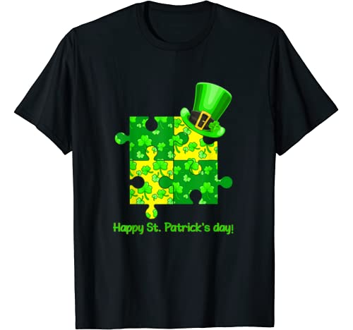 Funny Autism Awareness Puzzle Laprechaun St Patricks Day T Shirt