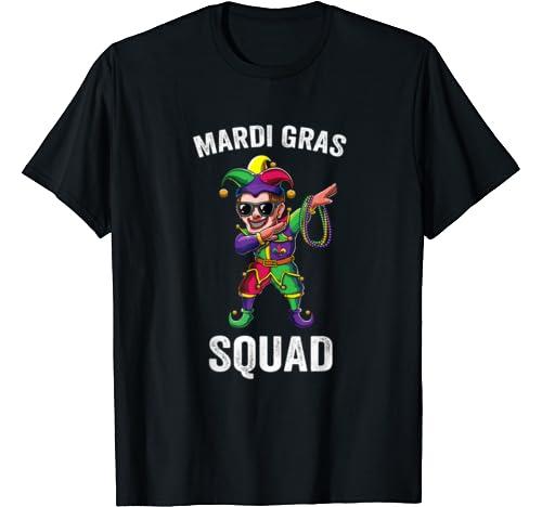Funny Dabbing Jester Dab Cute Mardi Gras Squad Matching Gift T Shirt