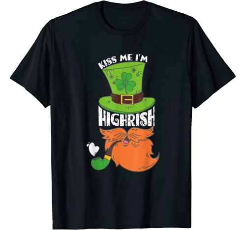 Kiss Me I'm Highrish Weed Leaf Tie Dye Hippie Patrick's Day T Shirt