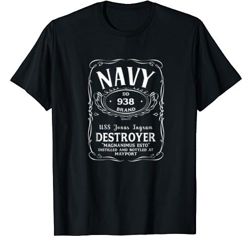 US USN Navy USS Jonas Ingram DD-938 Destroyer T-Shirt