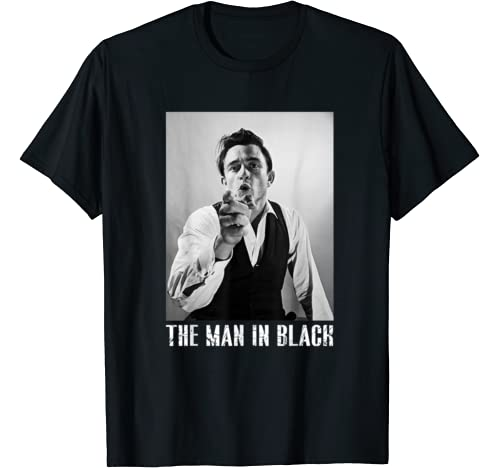 The Man In Black   Johnny Tee Cash Funny Music For Women Men T Shirt