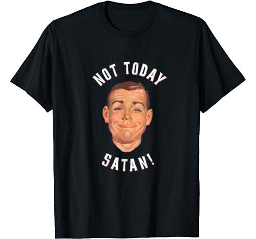 Proud Dad Devil Not Today Satan Vintage Old School Meme T Shirt