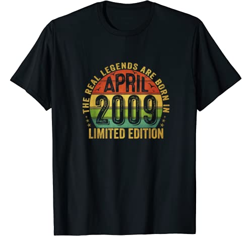 The Real Legend Are Born In April 2009 Limited Edition T Shirt