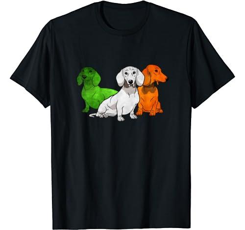 Dachshund Dogs Irish Flag Funny Patricks T Shirt