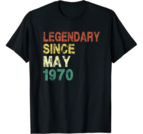 Since May 1970   50 Years Old 50th Birthday Gift T Shirt