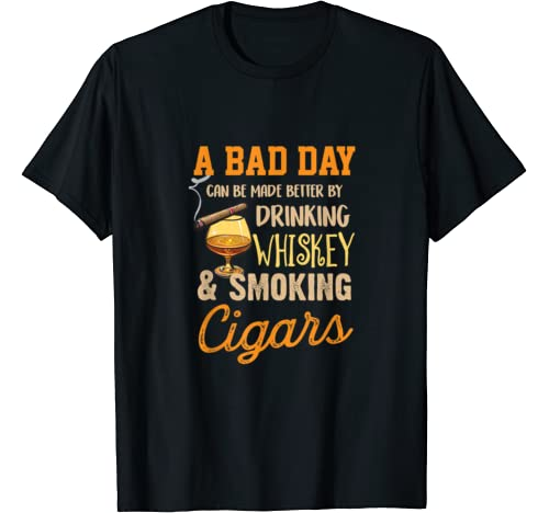 A Bad Day Whiskey Tshirt Drinking Lover Gift T Shirt