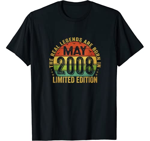 The Real Legend Are Born In May 2008 Limited Edition T Shirt