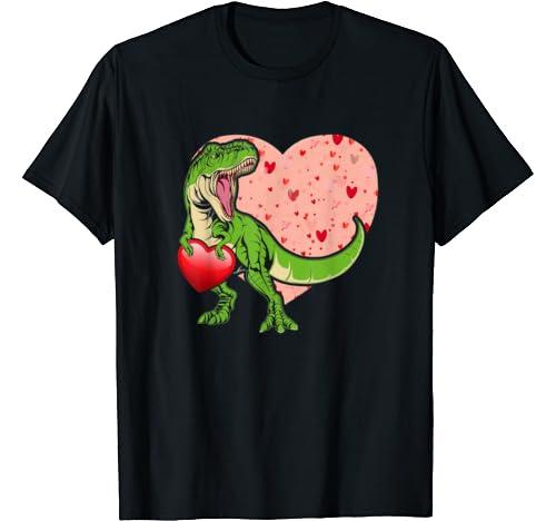 I Steal Hearts Loveasaurus T Rex Dinosaur Valentine's Day T Shirt