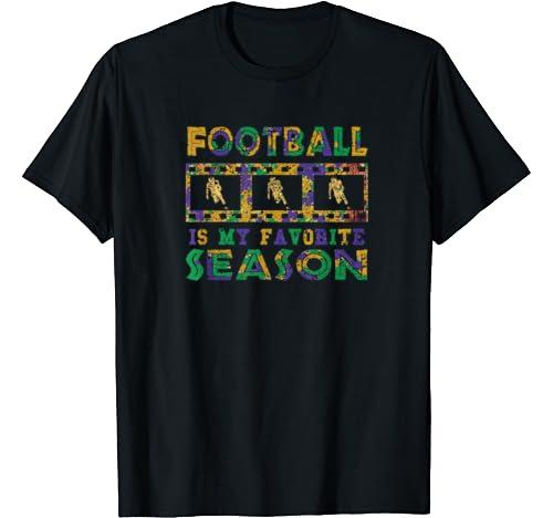Vintage Mardi Gras T Shirt Football Is My Favorite Season T Shirt