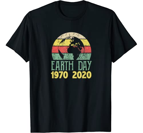 Retro Vintage 50th Earth Day 1970 2020 Costume Girl T Shirt