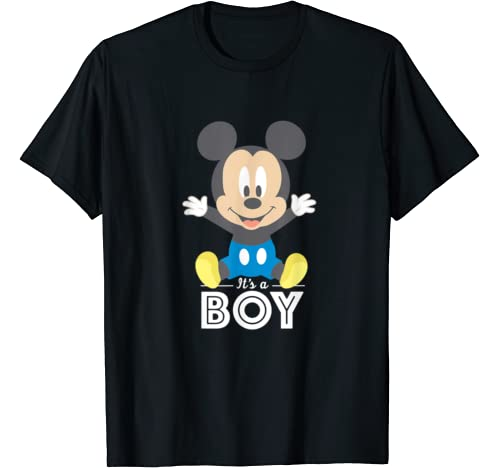 Disney Mickey Mouse It's A Boy Baby Shower T Shirt