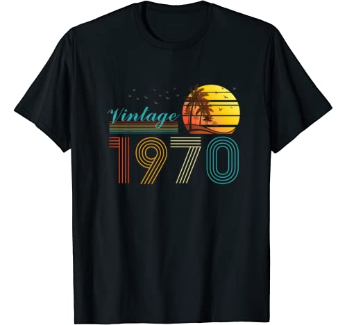 Vintage 50th Birthday Retro Shirt For Men Women Classic 1970 T Shirt