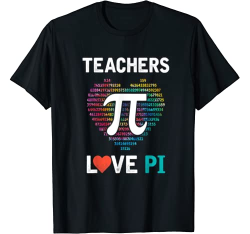 Teachers Love Pi Tie Dye Pi Symbol Pi Day Gifts Teacher Kids T Shirt