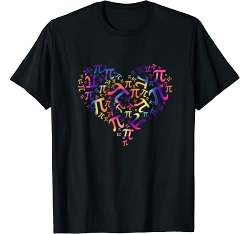 Math Teacher Gifts Tie Dye Heart Pi Day Gifts Kids T Shirt