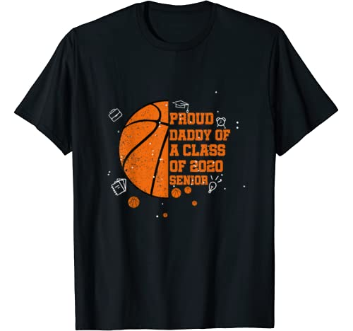 Mens Proud Daddy Of A Class Of 2020 Graduate Costume Basketball T Shirt