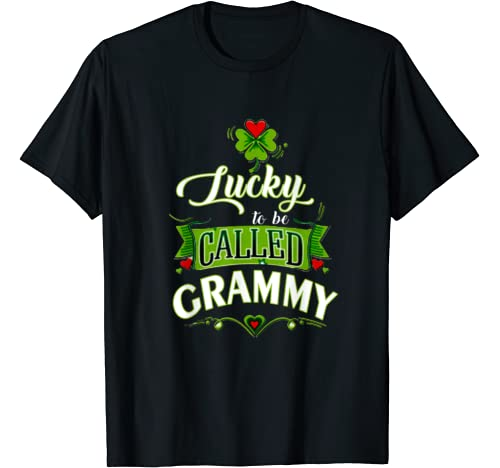 Lucky To Be Called Grammy   St Patricks Day Grandma Gift T Shirt
