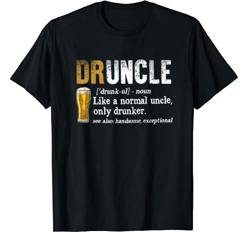 Vintage Funny Druncle Beer Design Gift For Men Lover T Shirt