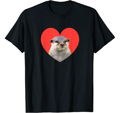 Otter Love Heart Red Funny Cute Animal Lover T Shirt