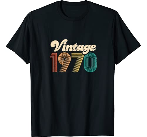50th Birthday Gift   Vintage 1970   Retro Bday 50 Years Old T Shirt