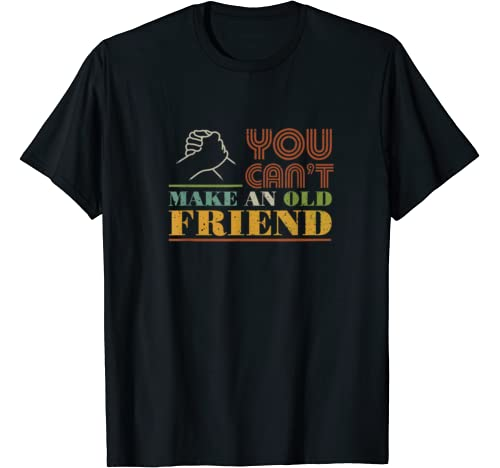 You Can't Make Old Friends Vintage Best Friend Gift T Shirt