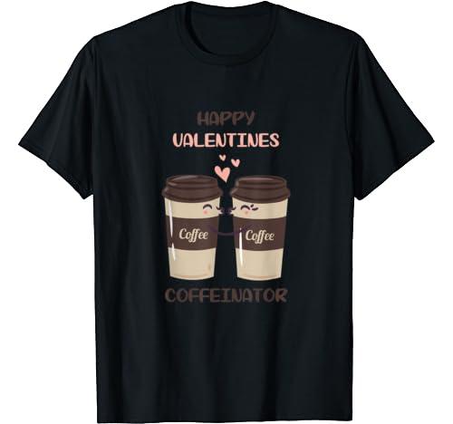Funny Coffee Valentine Mugs Kissing T Shirt