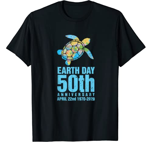Earth Day 50th Anniversary 1970 2020 Turtle Lover Costume T Shirt