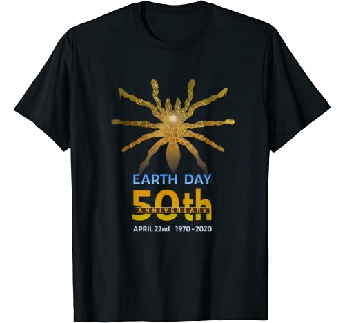 Earth Day 50th Anniversary Spider Silhouette Gift T Shirt