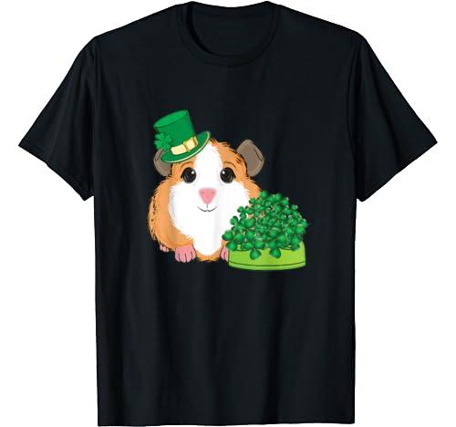 Shamrock Leprechaun Guinea Pig St Patricks Day For Men Women T Shirt