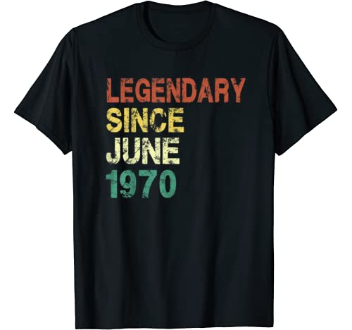 Since June 1970   50 Years Old 50th Birthday Gift T Shirt