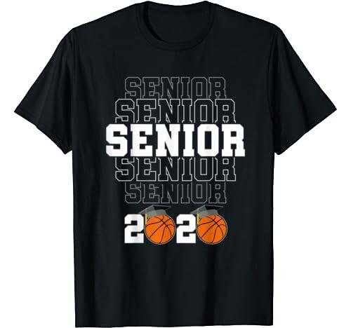 Senior 2020 Graduation Costume Class Of 2020 Gift Basketball T Shirt