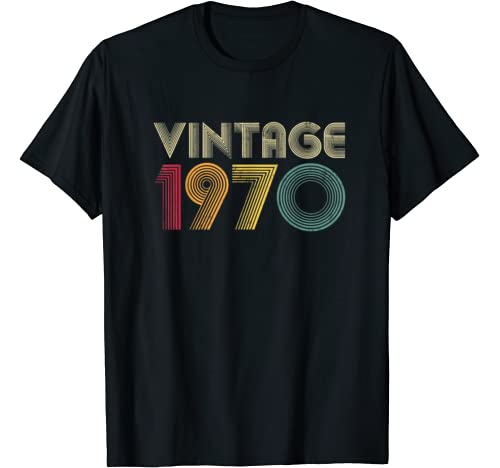 1970 50th Birthday Gift Vintage Retro Men Women 50 Years Old T Shirt