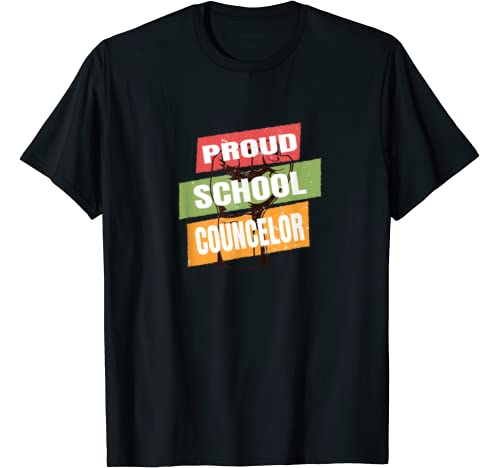 Proud School Counselor Africa Pride Black History Month T Shirt
