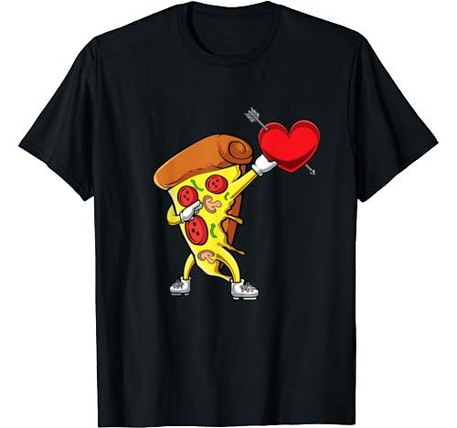 Funny Dabbing Pizza Dab Italian Food Valentines Day Him Gift T Shirt