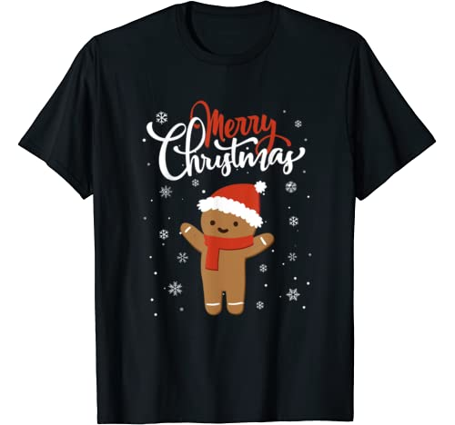 Merry Christmas Gingerbread Xmas Christmas Cookie Bakers T Shirt