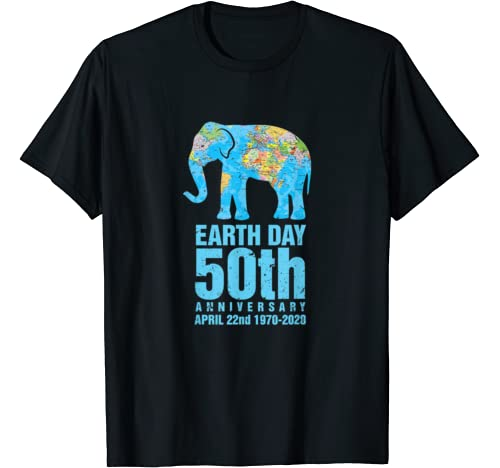 Earth Day 50th Anniversary 1970 2020 Elephant Lover Costume T Shirt