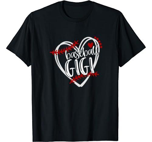 Baseball Heart Gigi Shirt Grandma Tshirt Trendy T Shirt