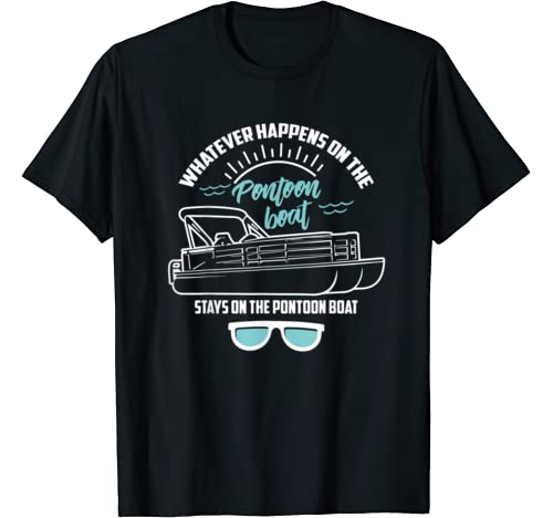 Cool Stays On The Pontoon Boat | Funny Yacht Ship Owner Gift T Shirt