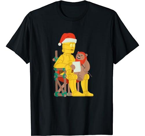Star Wars Holiday Santa C 3 Po & Ewok T Shirt