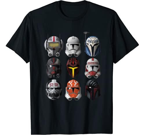 Star Wars: The Clone Wars Clone Helmets T Shirt