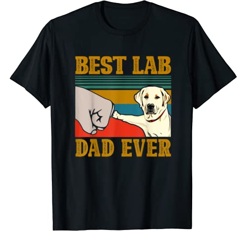 White Labrador Best Lab Dad Ever Funny Father Grandpa Gifts T Shirt