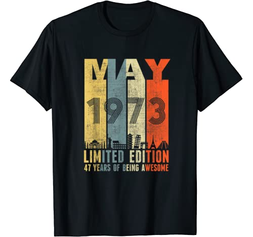 May 1973 Vintage Funny 47th Birthday Gift T Shirt