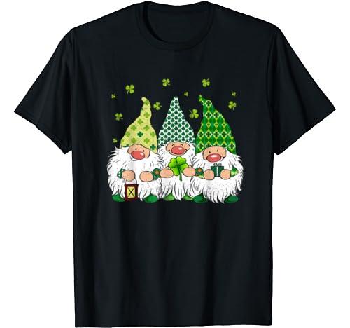 St Patricks Day Irish Gnomes Leprechauns Funky St Pattys Day T Shirt